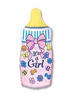 Фольгированный шар  Бутылочка Это девочка 88см x 43см Розовый
