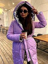 Зимовий двосторонній пуховик-ковдра розмір оверсайз 42-46, фото 2
