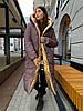 Зимовий двосторонній пуховик-ковдра розмір оверсайз 42-46, фото 4