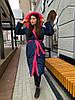Зимовий двосторонній пуховик-ковдра розмір оверсайз 42-46, фото 5