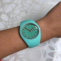 Женские наручные часы силиконовые Geneva софт тач мятные