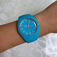 Женские наручные часы силиконовые Geneva софт тач голубые