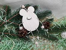 Підвіска Мишка з носиком 10см, фанера 6мм