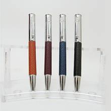 Ручка шариковая Baixin  BP-907   поворотная кожа, металл