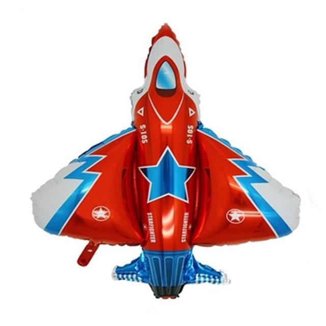 Фольгированный шар Истребитель 72см х 45см Красный