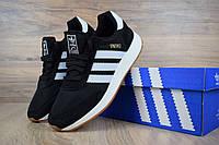 Женские кроссовки Adidas INIKI (черно-белые)