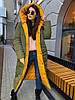 Зимовий двосторонній пуховик-ковдра розмір оверсайз 42-46, фото 6
