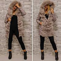 Кожаная зимняя куртка 2в1 BN1519