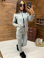 Женский спортивный костюм из трехнитки на флисе с мастеркой на молнии 5205817