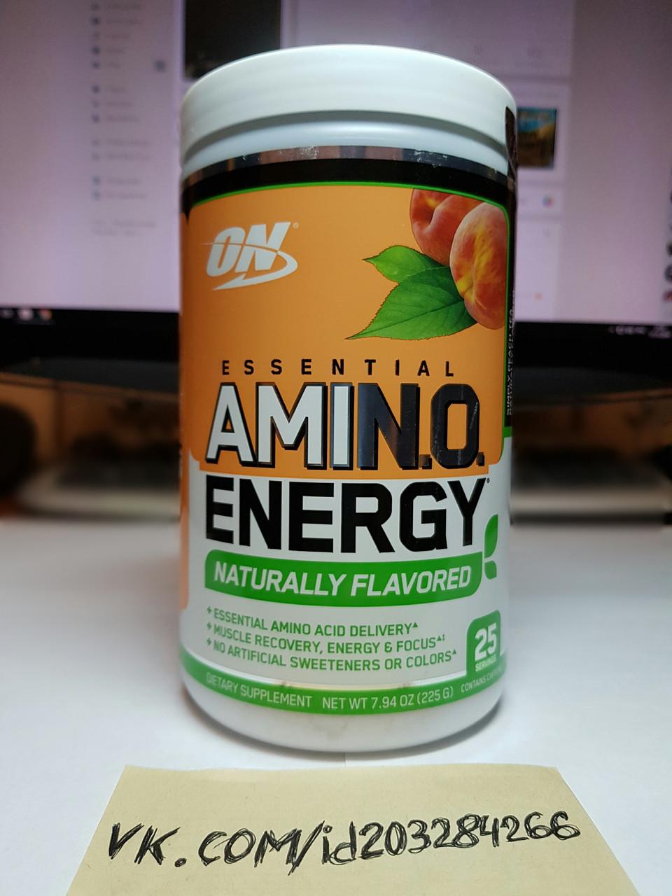 Комплекс аминокислот Optimum Nutrition Essential Amino Energy Natural Flavor 25 порций амино энерджи оптимум