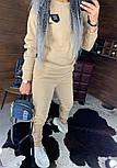 Утепленный женский брючный костюм на флисе с шивроном 4410359, фото 2