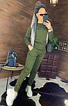 Утепленный женский брючный костюм на флисе с шивроном 4410359, фото 3
