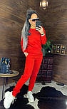 Утепленный женский брючный костюм на флисе с шивроном 4410359, фото 4