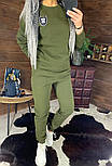 Утепленный женский брючный костюм на флисе с шивроном 4410359, фото 5