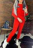 Утепленный женский брючный костюм на флисе с шивроном 4410359, фото 6