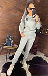 Утепленный женский брючный костюм на флисе с шивроном 4410359, фото 7