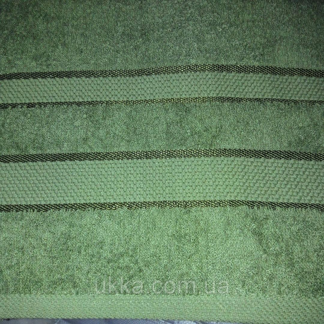 Полотенце махровое 50х90 Хаки для лица 100% хлопок Узбекистан