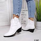 Женские демисезонные ботинки казаки белого цвета, натуральная кожа (в наличии и под заказ 7-16 дней), фото 7