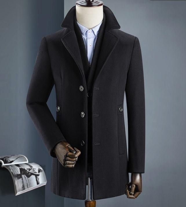 Мужское пальто осень-зима. Модель 8283