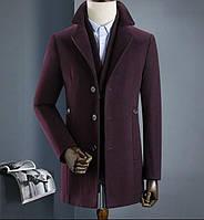 Мужское пальто осень-зима. Модель 8283, фото 6