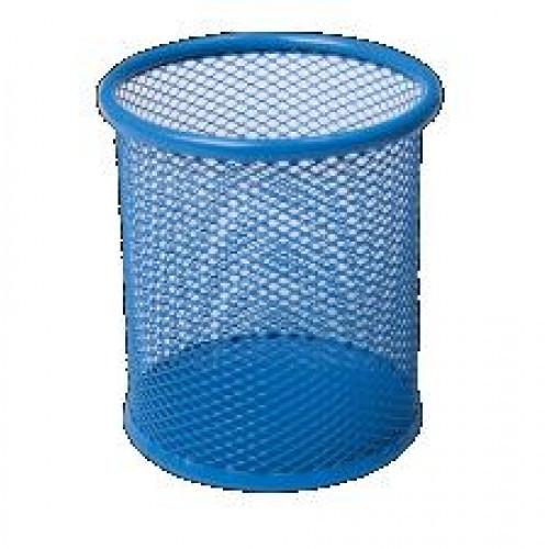 Стакан BUROMAX 6202-02 канц. металлический круглый 80х80х97мм синий (1/12/96)