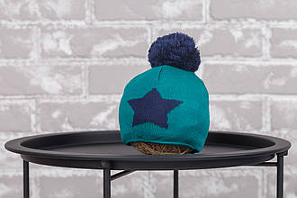 """Шапка """"Star"""", зелено-синяя"""
