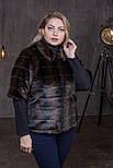 Жіночий штучний кожушок у великих розмірах з рукавом 3/4 392087, фото 2