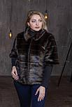 Жіночий штучний кожушок у великих розмірах з рукавом 3/4 392087, фото 3