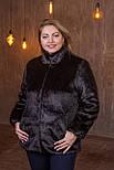 Женская короткая искусственная шуба большого размера без капюшона 392095, фото 3