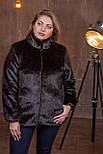 Женская короткая искусственная шуба большого размера без капюшона 392095, фото 4