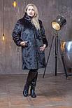 Женская искусственная шуба 100 см длиной в больших размерах 392105, фото 2