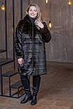 Женская шуба из искусственного меха с капюшоном и длиной метр (р. 42-56) 392107, фото 4