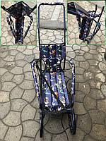 """Детские складные санки трансформер """"Десна"""" с ручкой толкателем (Украина) 2019"""