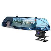"""➤Зеркало видеорегистратор 7"""" Lesko Car L1003M FullHD камера заднего вида microSD 32 Gb ночное виденье"""
