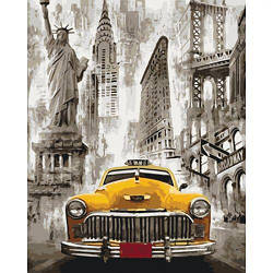 "Картина по номерам ""Такси Нью-Йорка"""