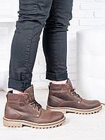 Кожаные мужские ботинки от украинского производителя, зима
