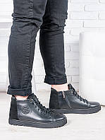 Мужские ботинки на шнуровке зима