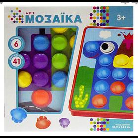 Детская Развивающая Мозаика Qml 6 картинок + 41 крупных вкладыша  M9B (1660468)