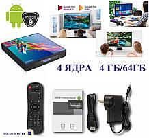 Смарт TV приставка 4 ЯДРА 4ГБ/64ГБ Андроид 9 мини компьютер