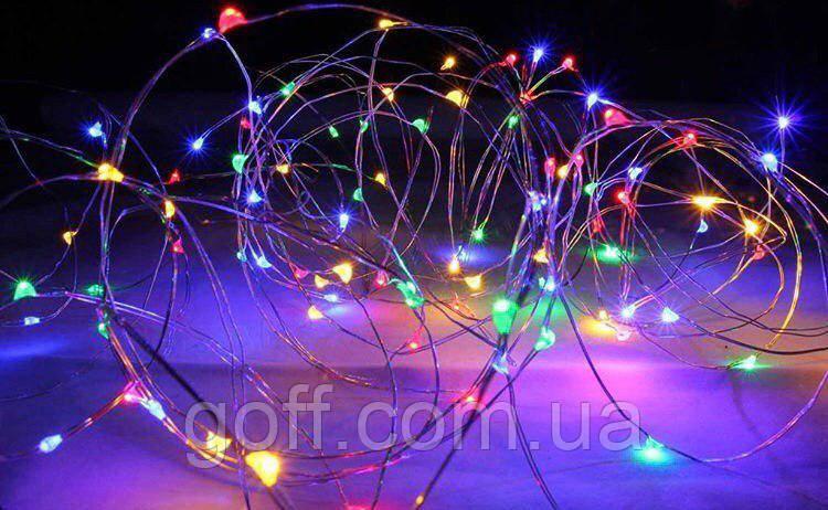 Гирлянда светодиодная роса 5 метров мультиколор