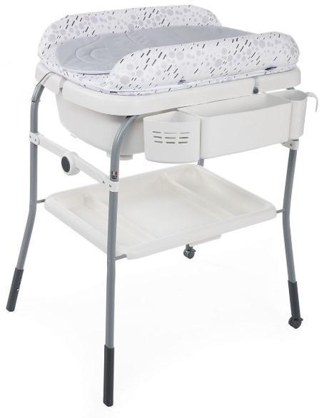 Пеленальный столик Chicco Cuddle&Bubble с ванночкой, светло-серый (79348.19)