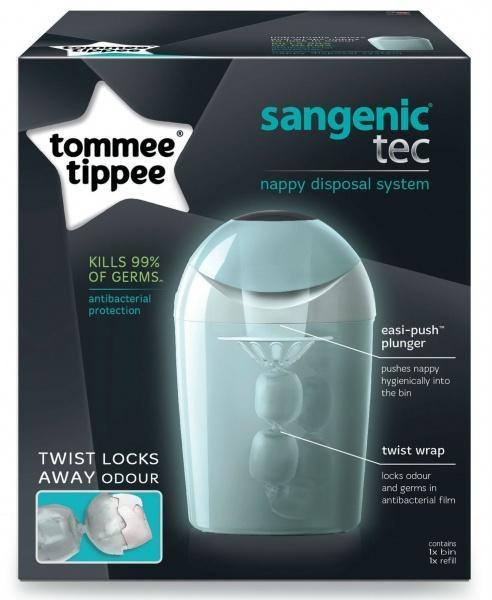 Накопичувач для підгузків Tommee Tippee Sangenic Tec, бірюзовий (30007)