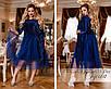 Платье нарядное декорировано сеткой 48-50,52-54,56-58, фото 3