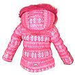 Детский зимний комбинезон для девочки, розовый, натуральный мех от Donilo 2548, | размеры 86-104р., фото 2