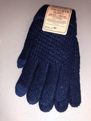 Сенсорные перчатки Shouhushen взрослые темно-синие