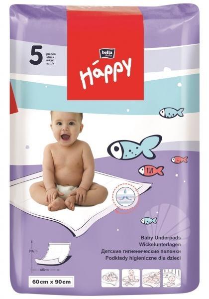 Одноразові підгузники Bella Baby Happy, 90х60 см, 5 шт.