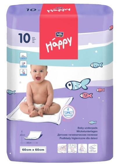 Одноразовые пеленки Bella Baby Happy 60x60 см, 10 шт.