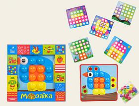 Детская Развивающая Мозаика Країна Іграшок  41 деталь + 6 картинок (KI-7061)