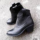 Женские зимние ботинки казаки черного цвета, натуральная кожа(в наличии и под заказ 7-16дней), фото 2