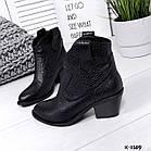 Женские зимние ботинки казаки черного цвета, натуральная кожа(в наличии и под заказ 7-16дней), фото 3